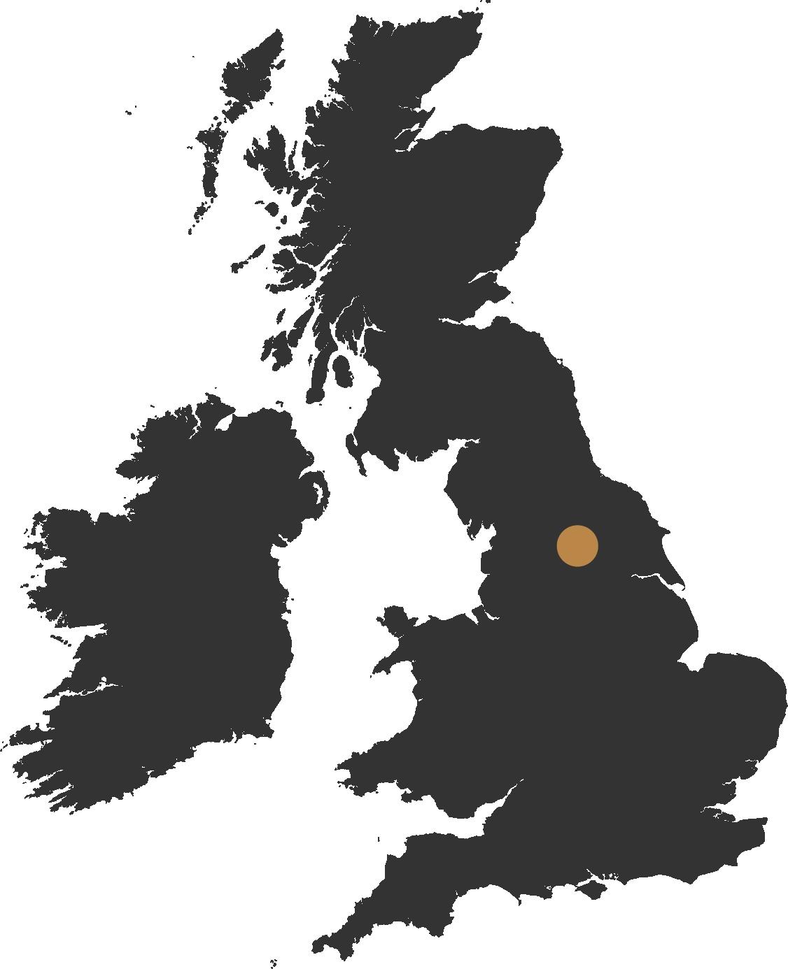 map of the uk showing harrogate