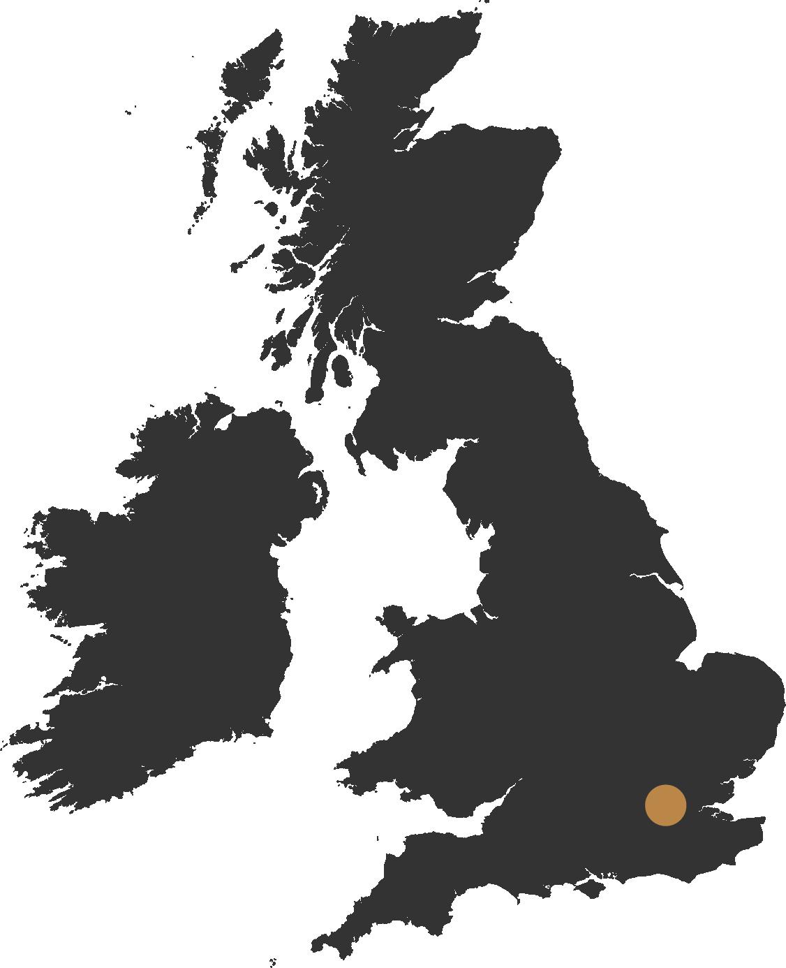 map of uk showing london