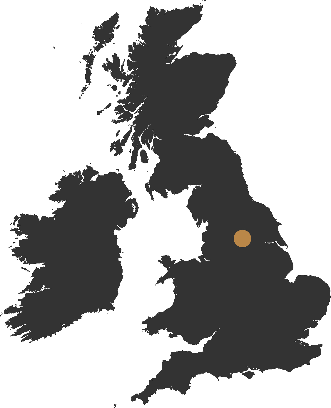 map of the uk showing leeds