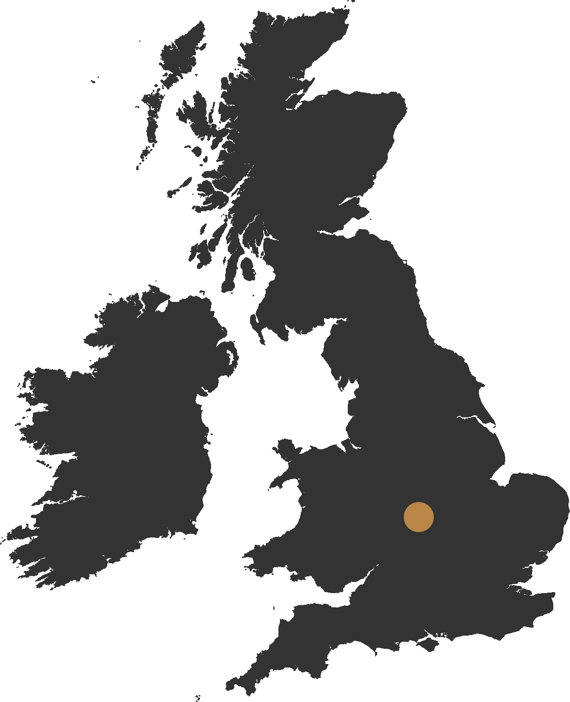 map of the uk showing coventry
