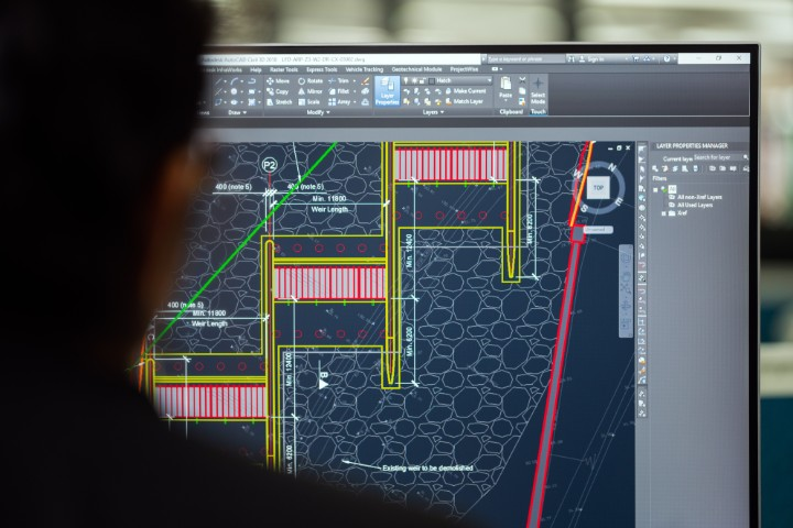 engineering software on a computer screen